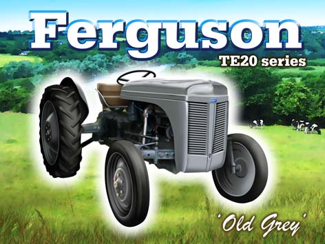 """Old Grey"" Ferguson TE20 Series Metal Sign"