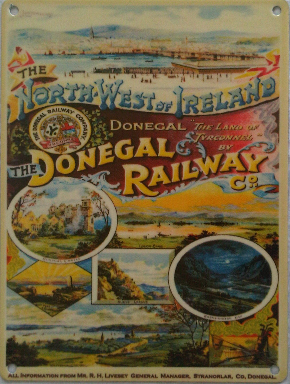 Donegal Railways Metal Sign - Small