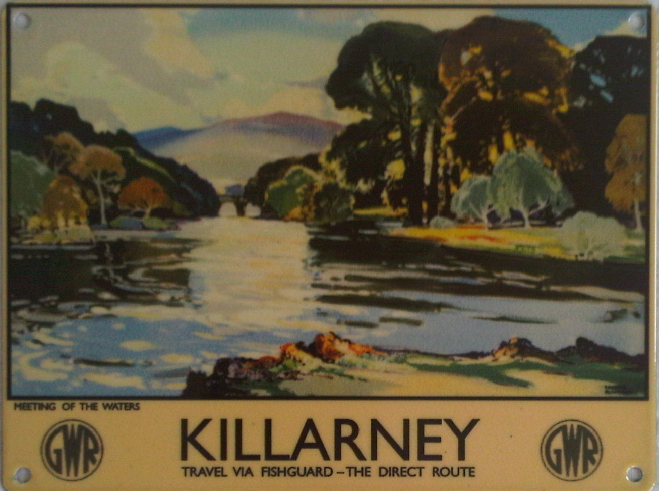 Killarney - Meeting of the Waters Metal Sign - Smal