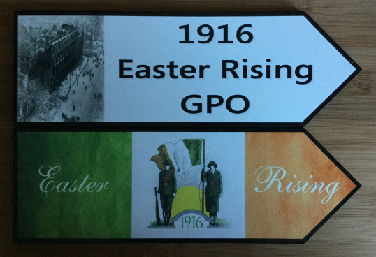 1916 Easter Rising GPO and Volunteer Road Signs