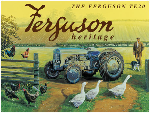 Ferguson Heritage Tractor Metal Sign - Small
