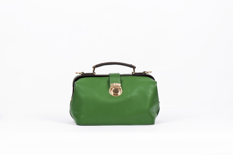 Twin Strap Doctor's Style Retro Bag - Green