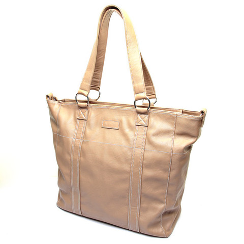 Amelie Signature Large Sand Tote Bag
