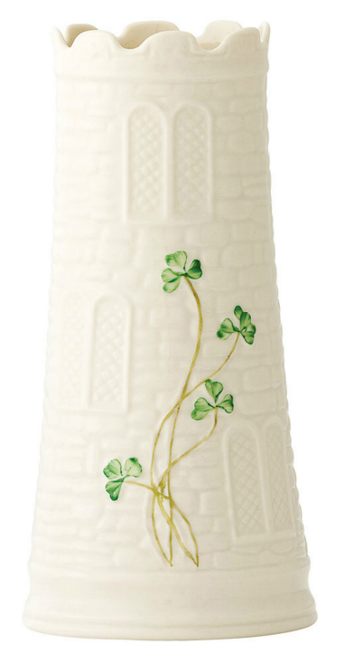 Belleek Castle Vase 7.7 inch