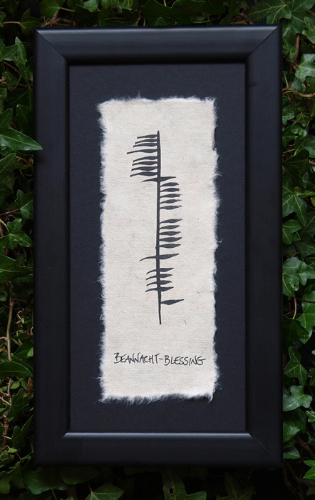 Blessing - Irish Made Single Ogham
