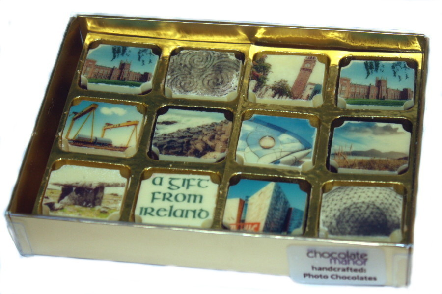 Printed Irish Landmark Souvenir Chocolates - Box of 12