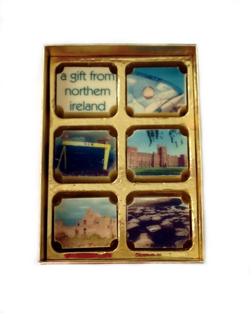 Printed Irish Landmark Souvenir Chocolates - Box of 6