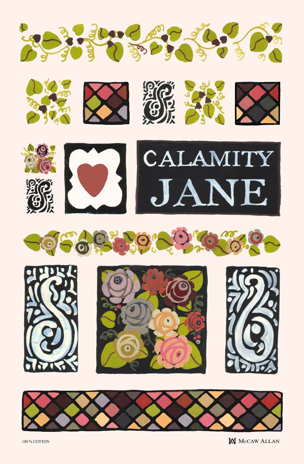 Calamity Jane Linen Union Tea Towel by Julie Dodsworth