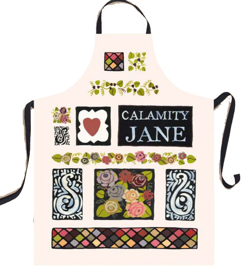 Calamity Jane Cotton Apron by Julie Dodsworth