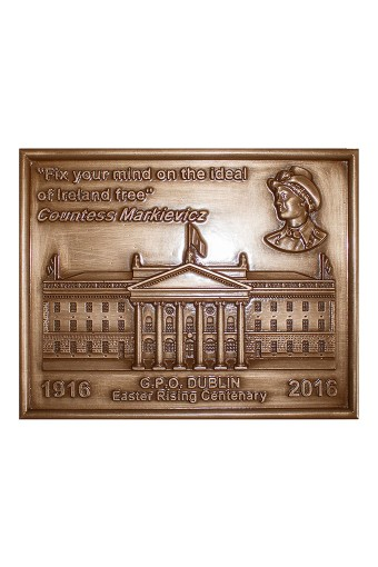 Countess Markievicz Bronze Plaque 14cm