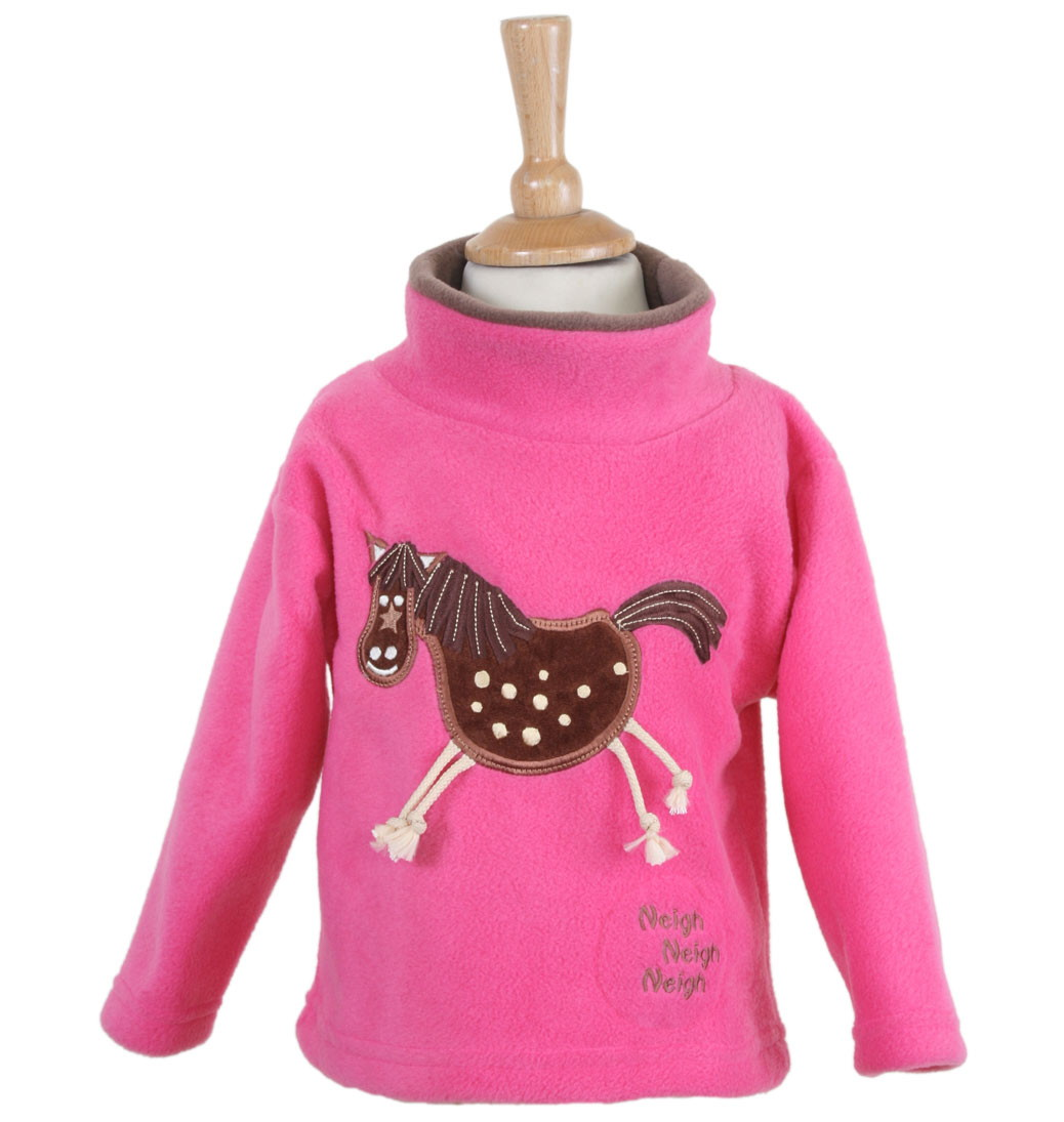 Crazy Horse Crew Neck Fleece With Sound Effects - Cerise