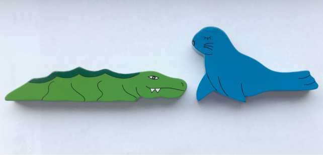 Crocodile and Seal Magnets - Set of 2