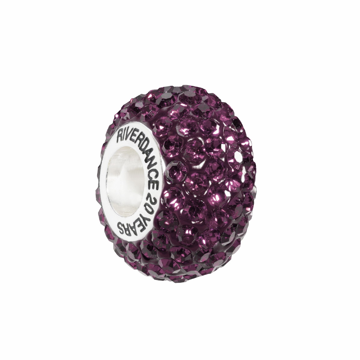 Official Riverdance20 Crystal Encrusted Bead - Purple