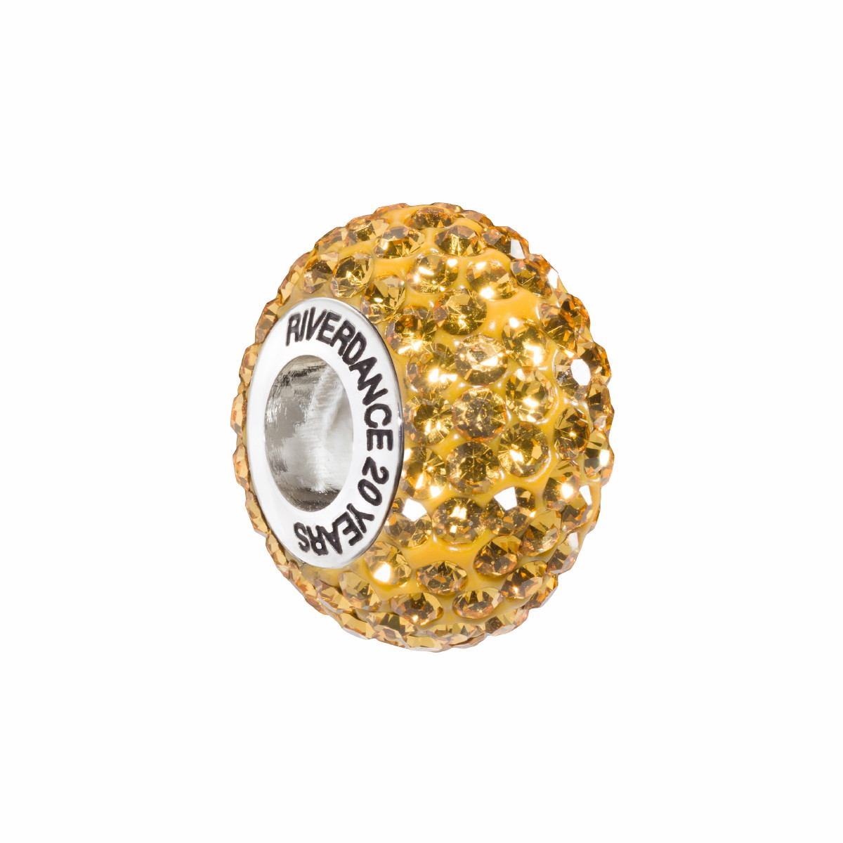 Official Riverdance20 Crystal Encrusted Bead - Yellow