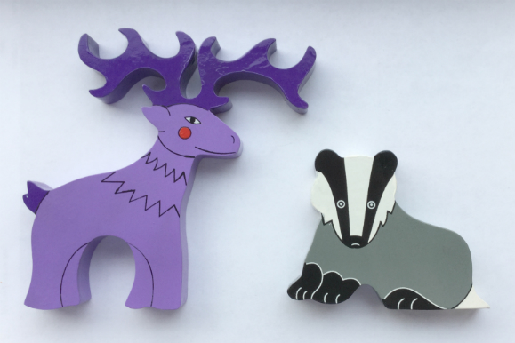 Deer and Badger Magnets - Set of 2