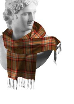 Down County Tartan Lambswool Scarf