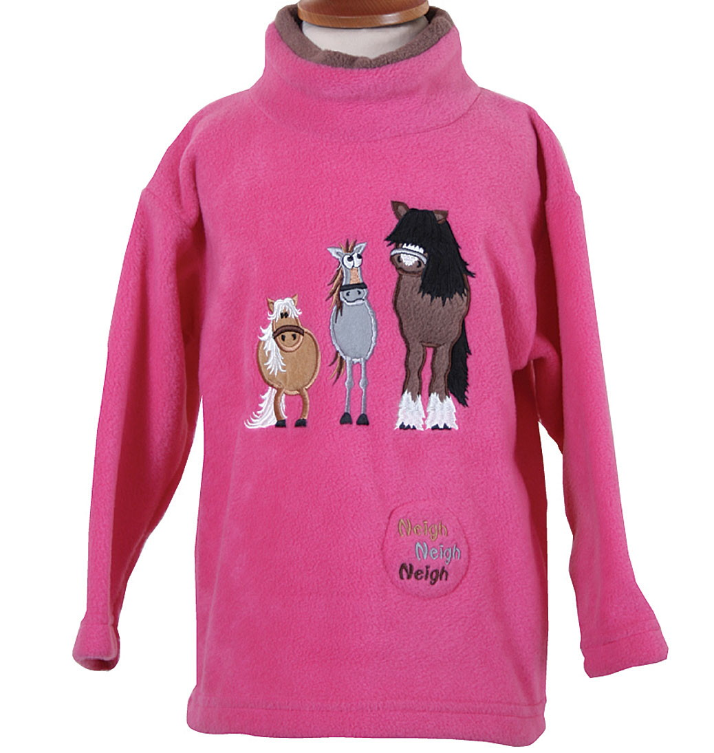 Dozy Mares Crew Neck Fleece With Sound Effects - Cerise