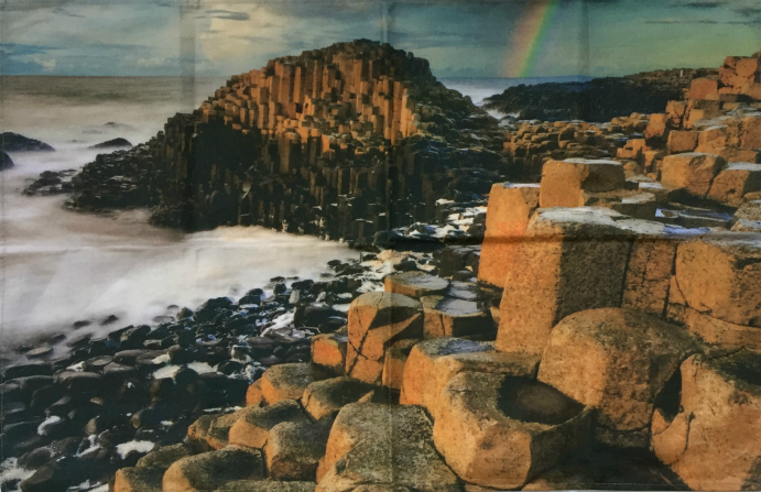 Giants Causeway Cotton Tea Towel - Limited Edition