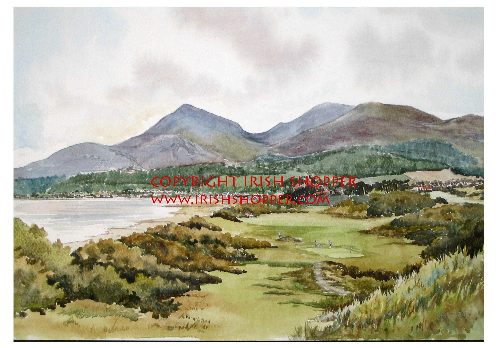 Royal County Down Golf Course - A4 Print