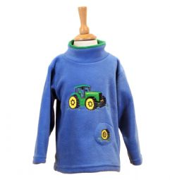 Green Tractor Sound Effect Fleece - Blue