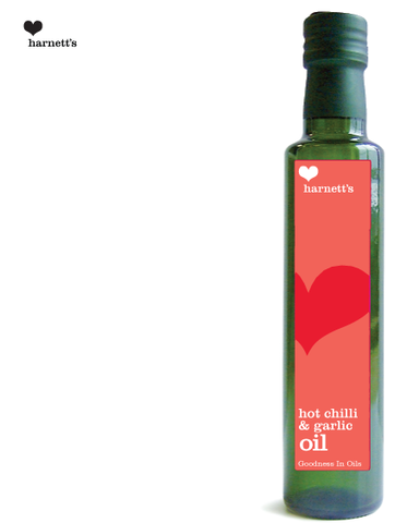 Harnetts Chilli and Garlic Infused Rapeseed Oil 250ml - Box of 6