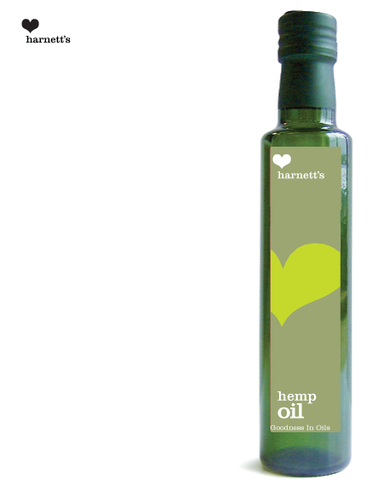 Harnetts Cold-Pressed Hemp Oil 250ml - Box of 6