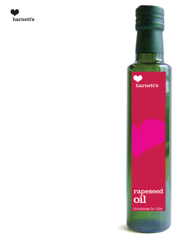 Harnetts Cold-Pressed Rapeseed Oil 250ml - Box of 6