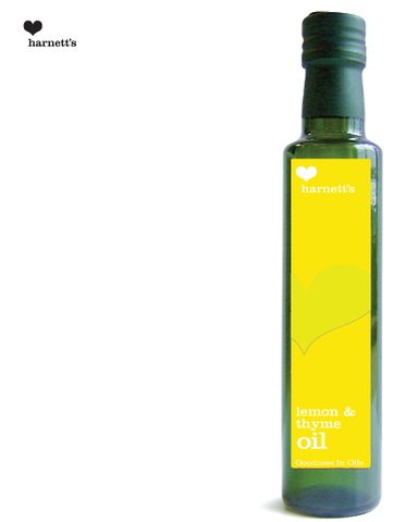 Harnetts Lemon and Thyme Infused Rapeseed Oil 250ml - Box of 6