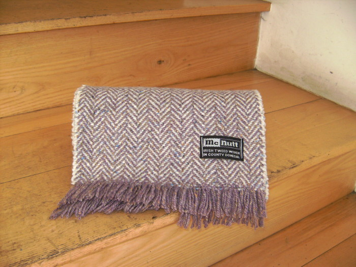 Heather & Cloud Herringbone Scarf