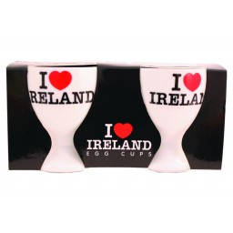 I Love Ireland Ceramic Egg Cups Set of 2