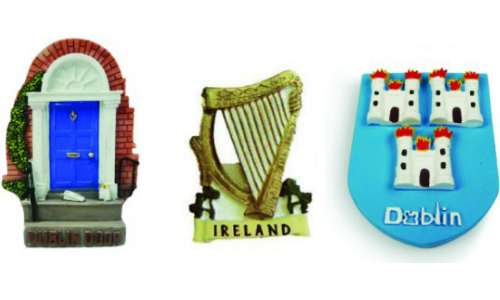Ireland Resin Magnets Set of 3