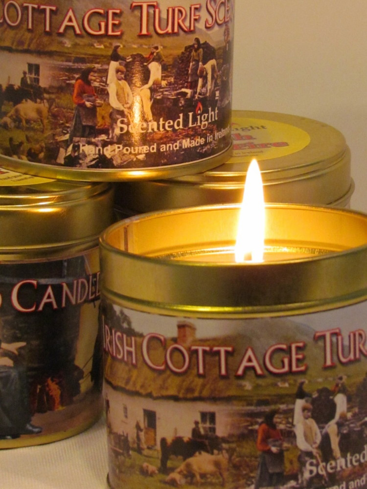 Irish Cottage Turf Scented Candle In A Tin