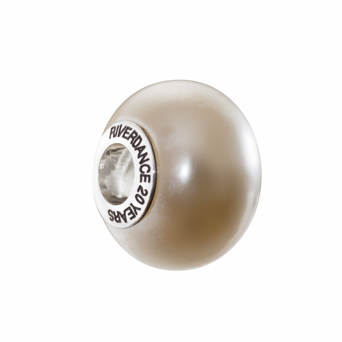 Official Riverdance Jewellery Ivory Pearlescent Glass Bead