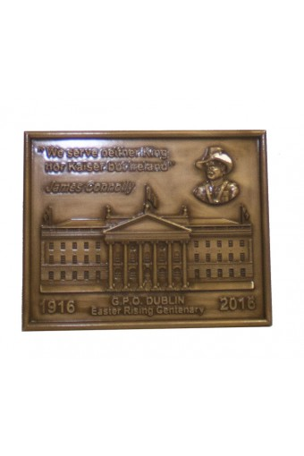 James Connolly Bronze Plaque 14cm