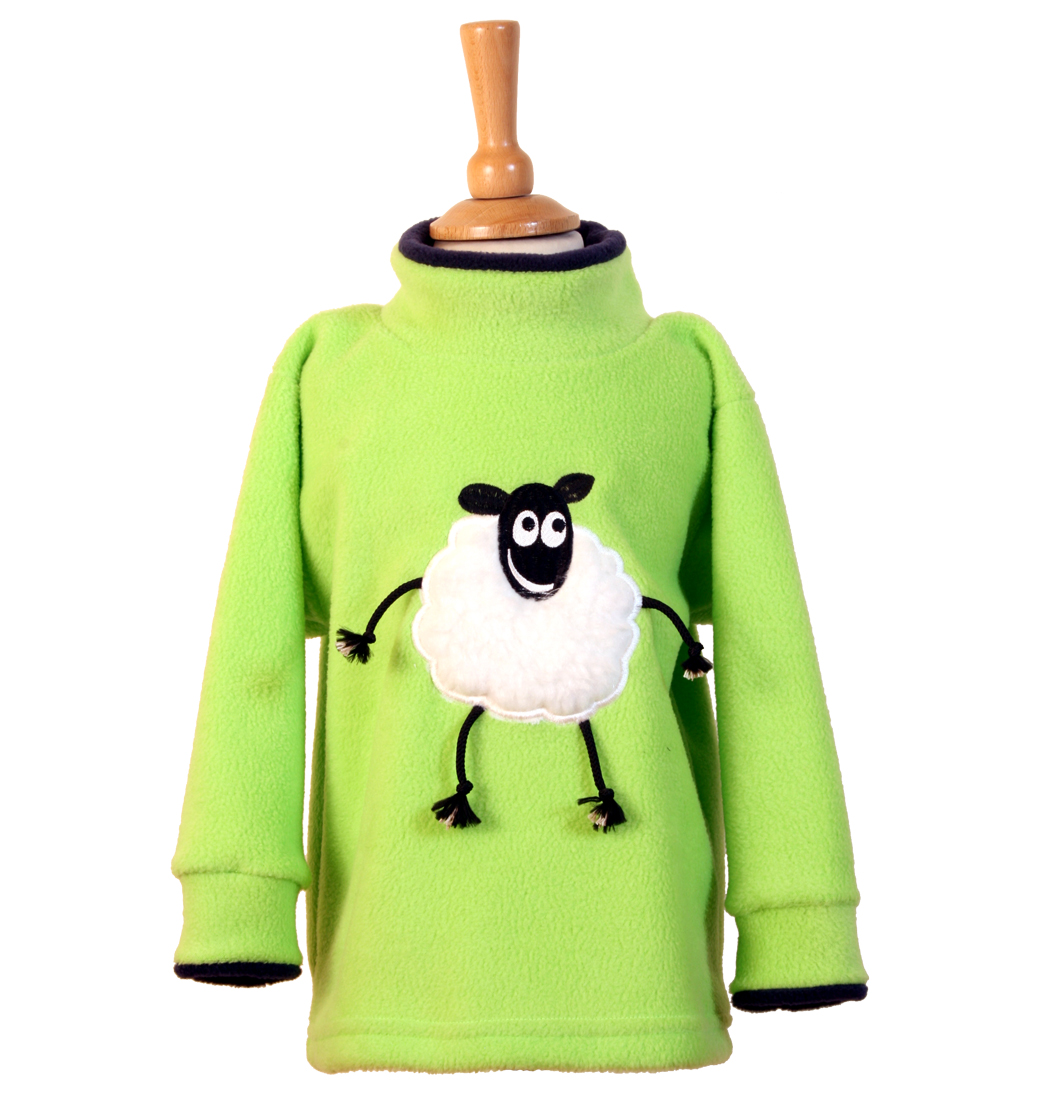 Loopy Lamb Crew Neck Fleece - Lime