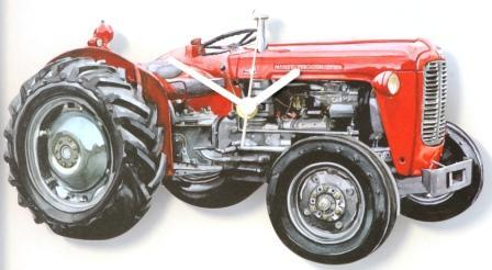 Massey Ferguson MF35 Red Tractor Clock