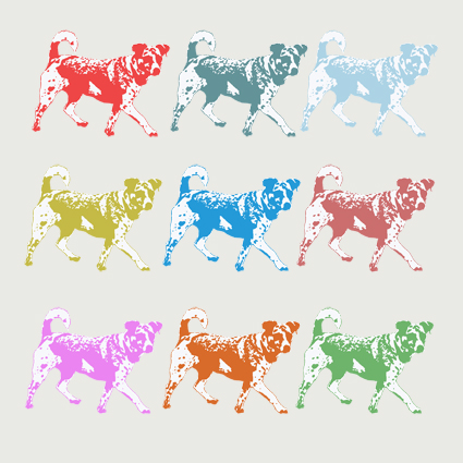 Nine Dogs Greeting Card