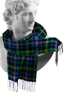 Offaly County Tartan Lambswool Scarf