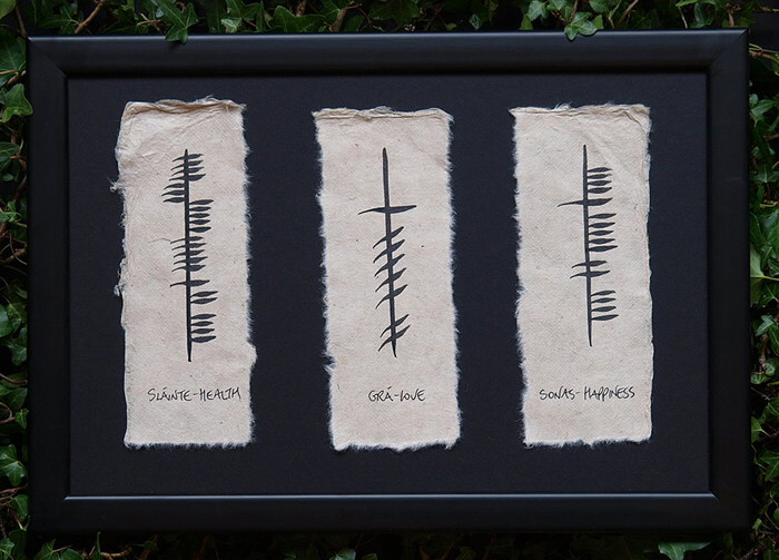 Friendship,Love & Loyalty Irish Made Triple Ogham
