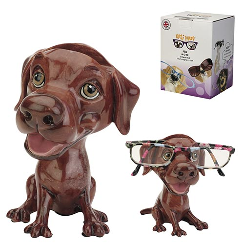 Optipaws Chocolate Labrador Eye Glass Holder