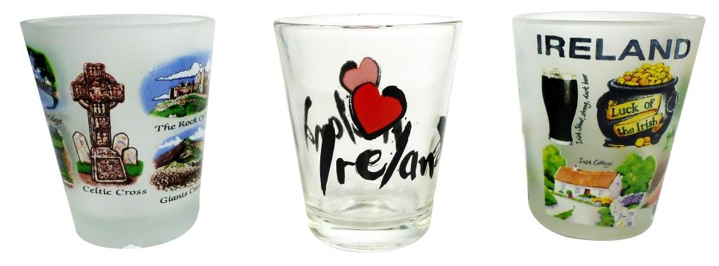 Iconic Ireland Frosted Shotglasses - Set of 3
