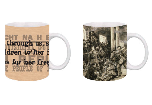 Proclamation Poster and GPO Scene 1916 Mugs - Set of 2