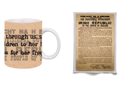 Proclamation Poster Mug and Tea Towel Set