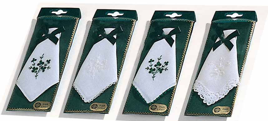 Ladies Shamrock Lace & Plain Hankies