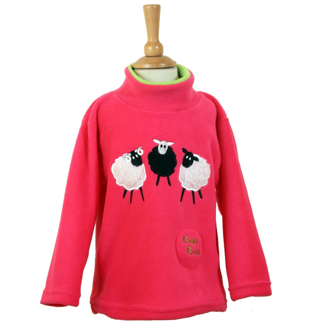 Sheep Trio Sound Effect Fleece - Hot Pink