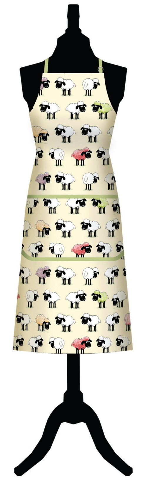 Sheepish Cotton Apron with Pocket