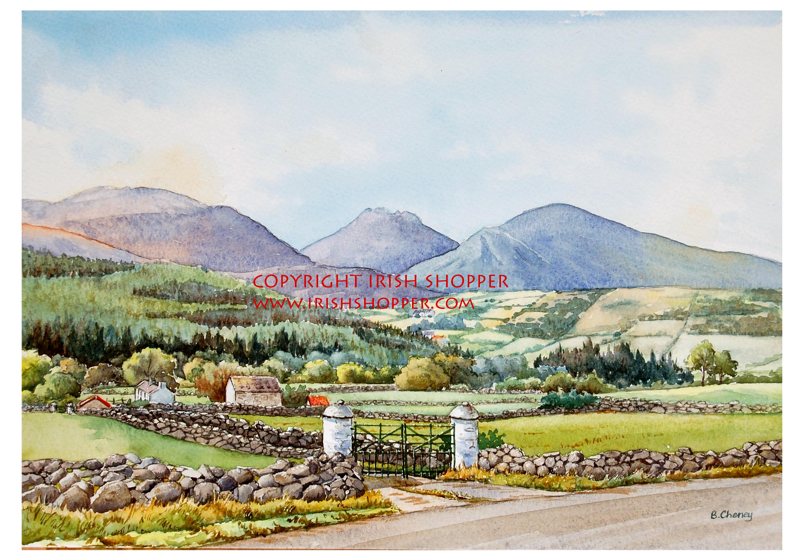 Farm at Slievenaman - A4 Print