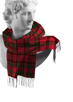 Tipperary County Tartan Lambswool Scarf