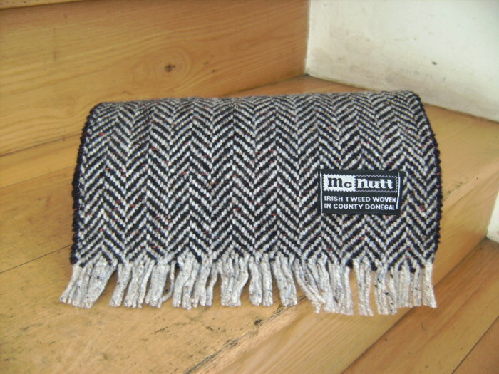 Turf & Cloud Herringbone Scarf