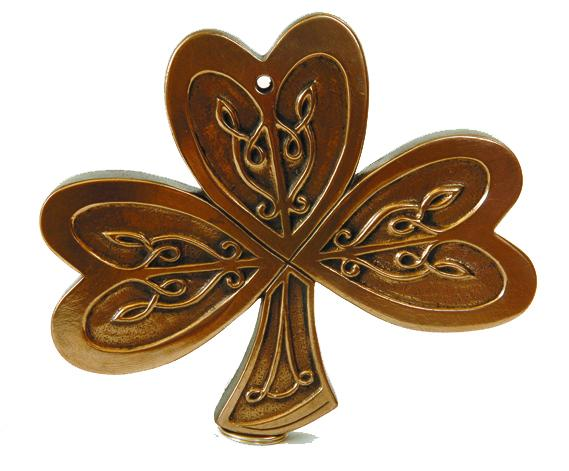 Celtic Shamrock Bronze Plaque